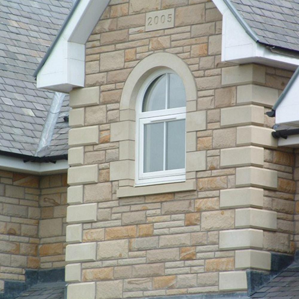 Tilt & Turn on modern stone house