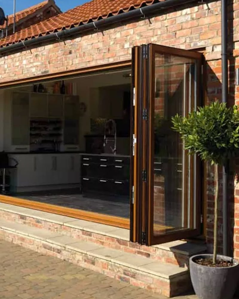 Fully opened Bi Folding Doors