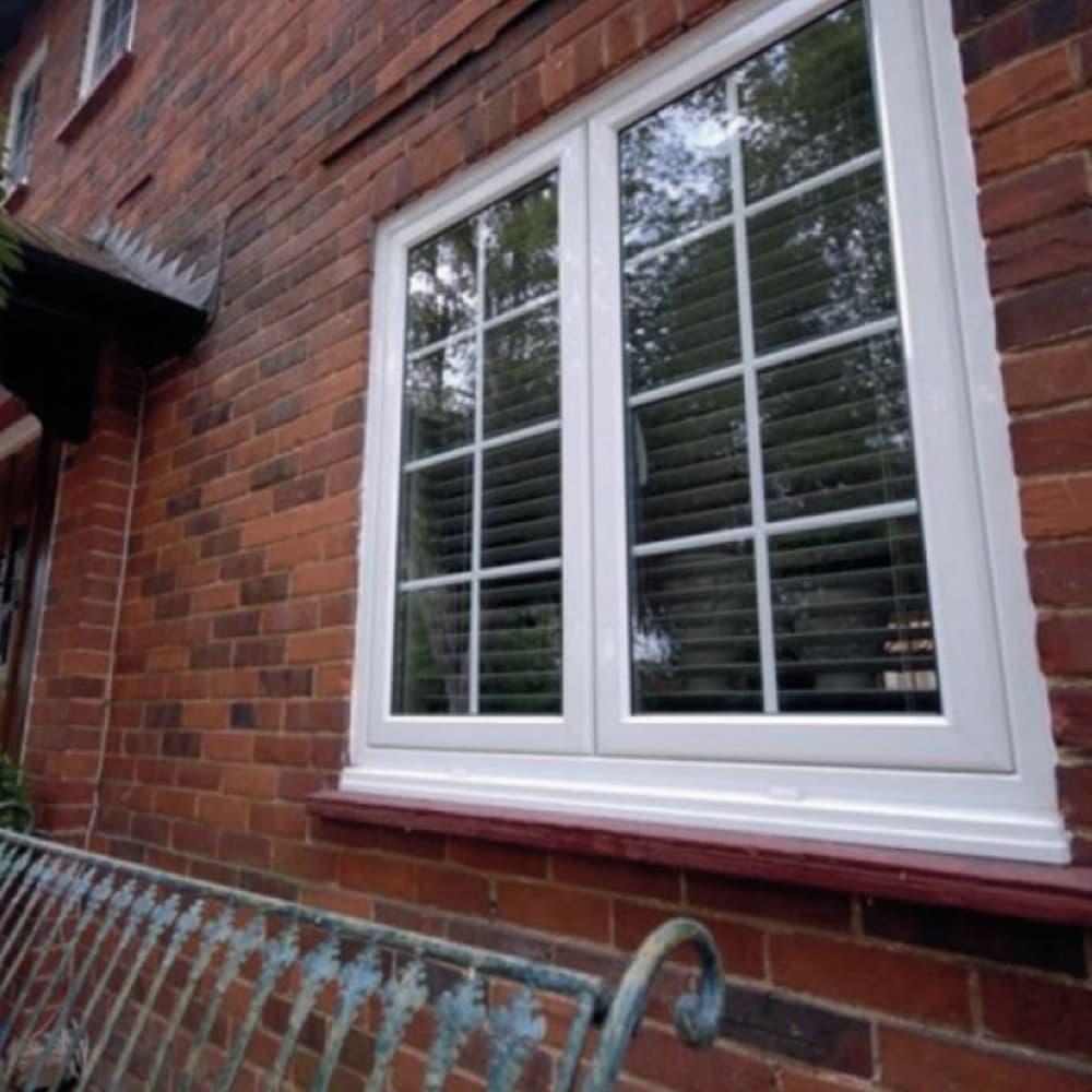 White windsor windows