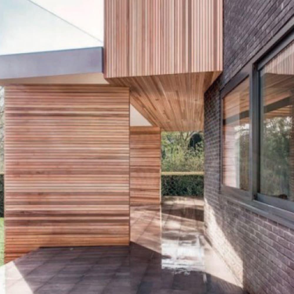House with aluminium windows
