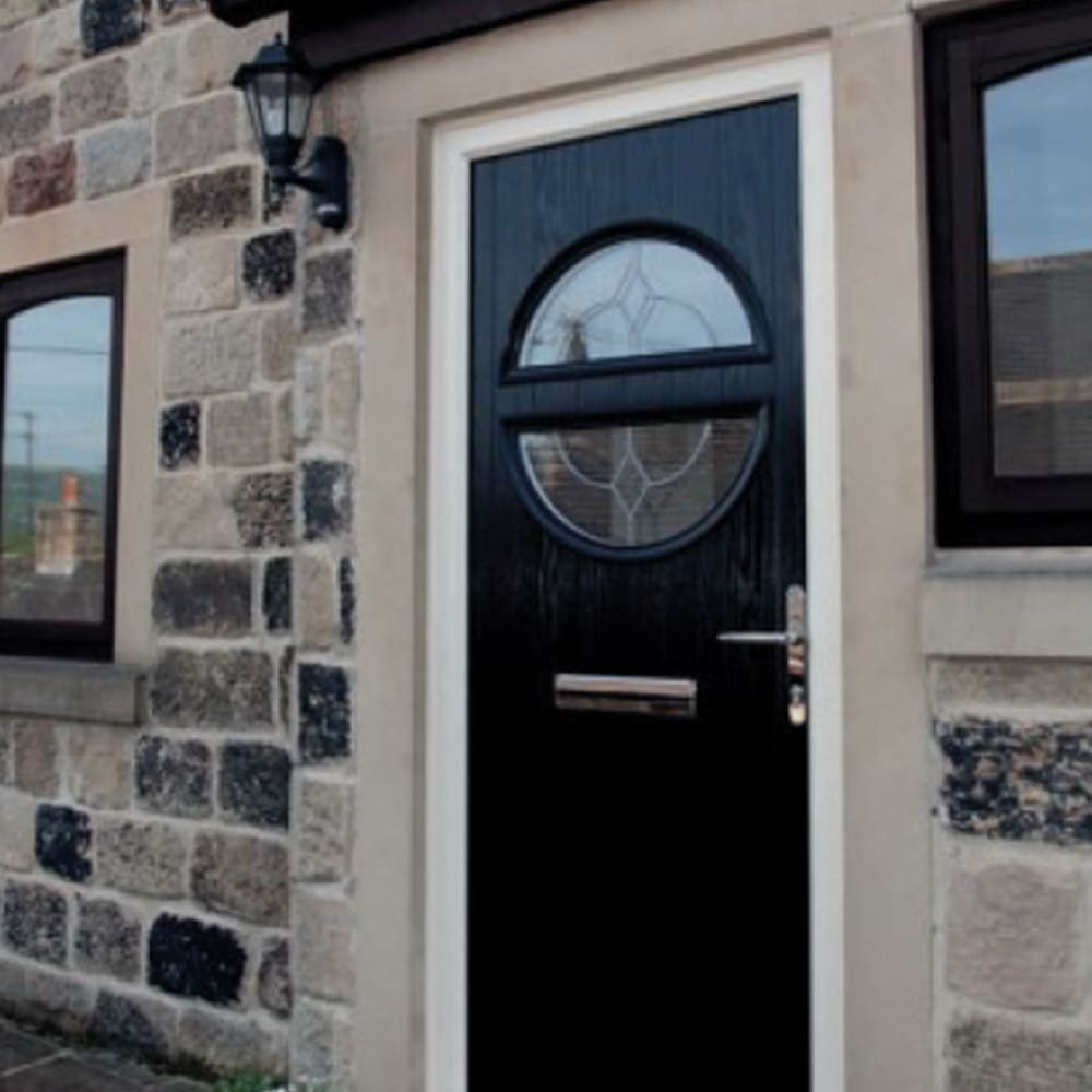 Composite Black Door